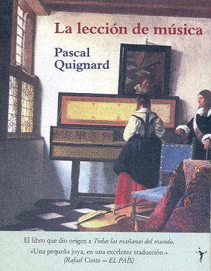 La lección de música, de Pascal Quignard